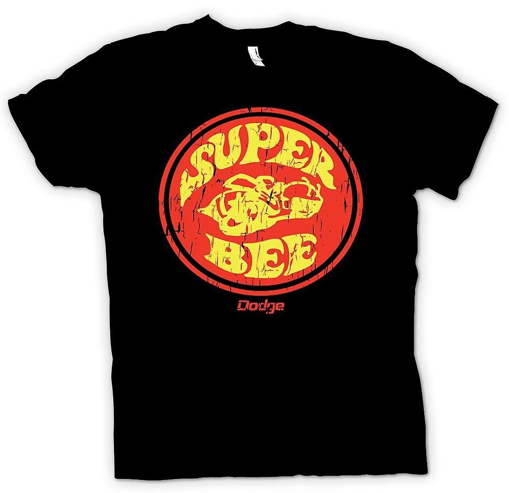 Mens T-shirt-Dodge Super Bee Muscle Car