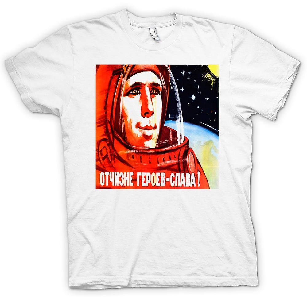 Womens T-shirt - Yuri Gagarin - Russisch ruimtevaarder