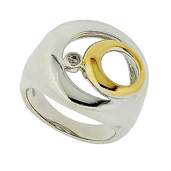 Orphelia argent 925 bague diamant Bicoloror ZR-3482
