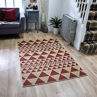 Moda Flatweave Prism Red  Rectangle Rugs Plain/Nearly Plain Rugs
