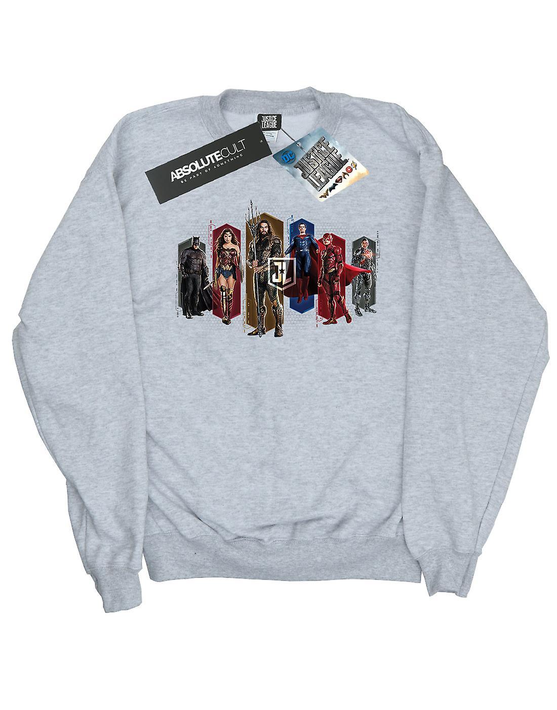 DC Comics pojkar Justice League film Team hexagoner Sweatshirt