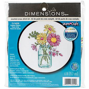 Learn-A-Craft Summer Flowers Counted Cross Stitch Kit-6