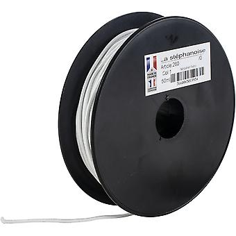 Products From Abroad Polyester Elastic Cord 2Mmx50m-White