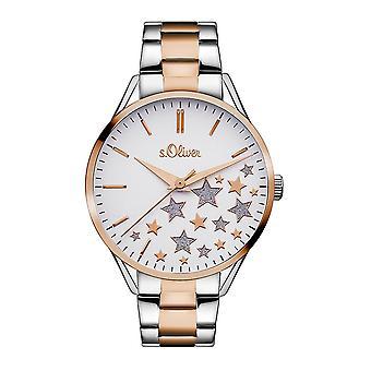 s.Oliver Damen Uhr Armbanduhr Edelstahl SO-3437-MQ