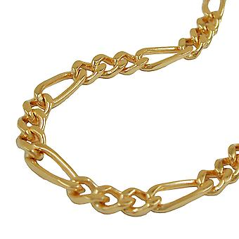 4 mm Figaro chain 4 x diamantiert AMD gold plated 60cm