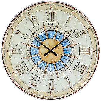 fine quartz wall clock wall clock quartz design Sun hardened printed special glass