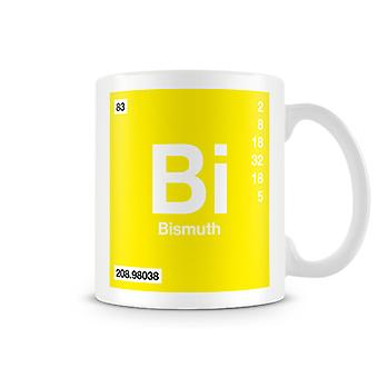 Scientific Printed Mug Featuring Element Symbol 083 Bi - Bismuth