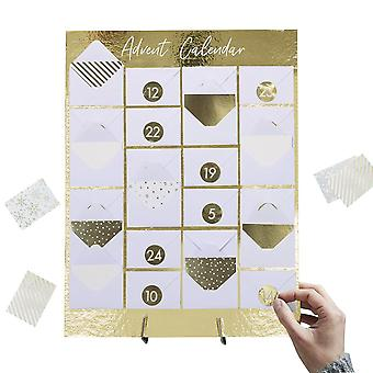 Mini Envelope Gold Advent Calendar DIY Fill Yourself Christmas Countdown