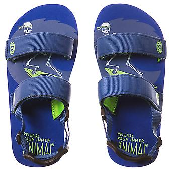 Animal Infant Boys Childrens Bodhy Summer Holiday Flip Flops Sandals - Blue