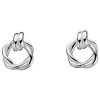 Beginnings Twisted Stud Earrings - Silver