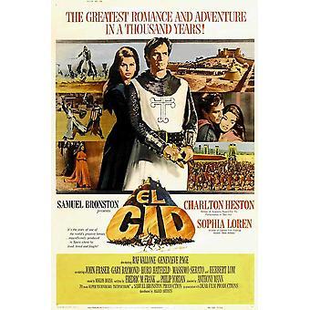 El Cid filmaffisch (11 x 17)