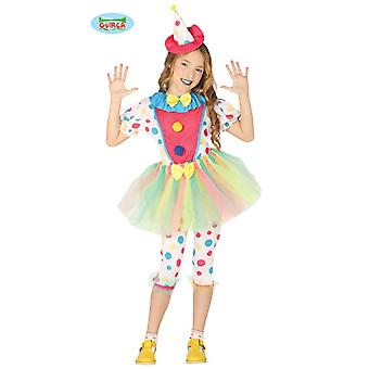 Clownkostüm girl child clown jester costume children costume