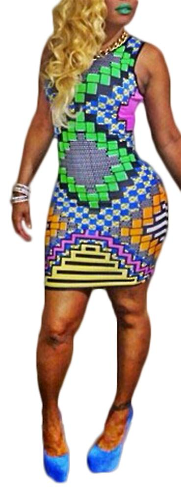 Waooh - Short dress graphic patterned tiles Lope