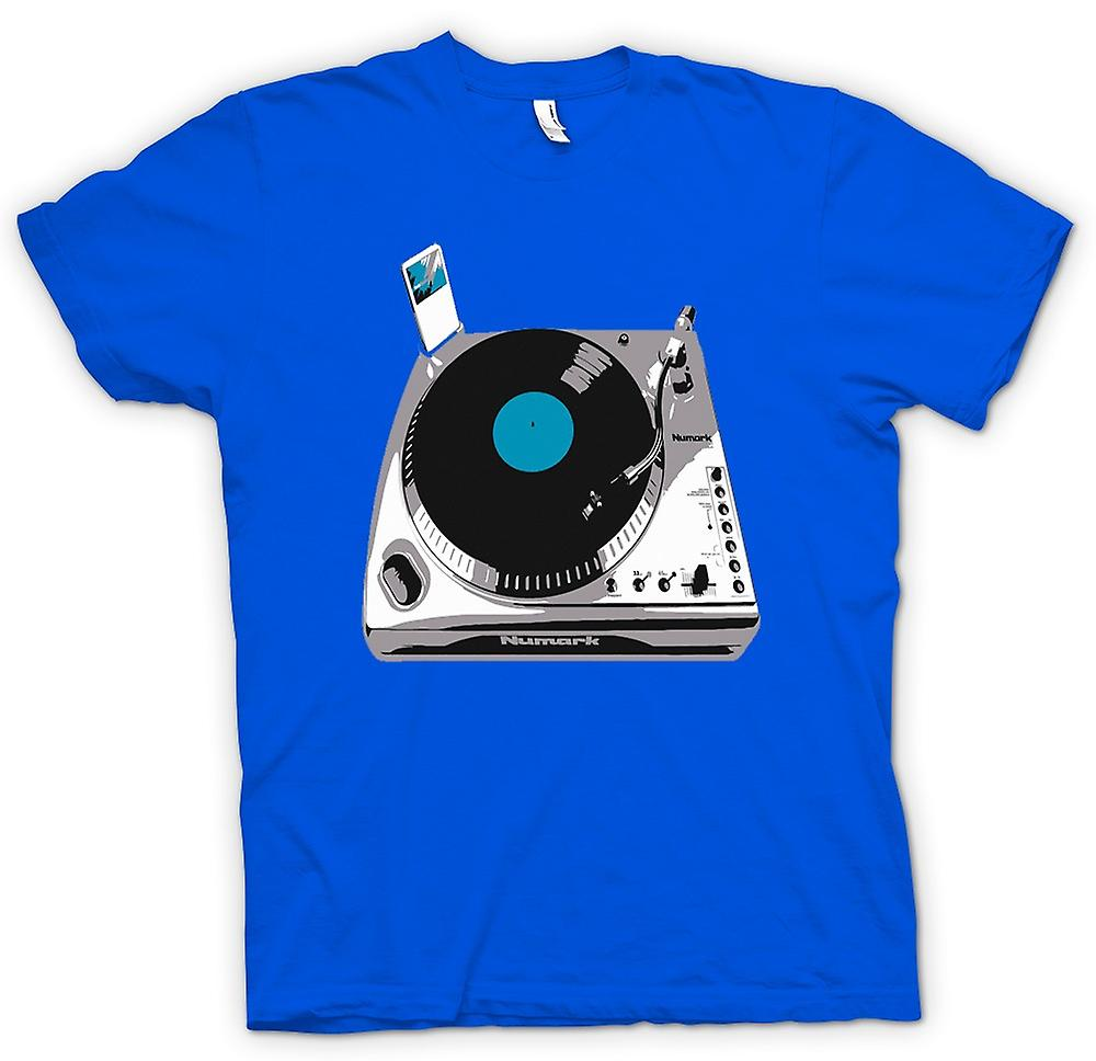 Hommes T-shirt - DJ Decks iPod