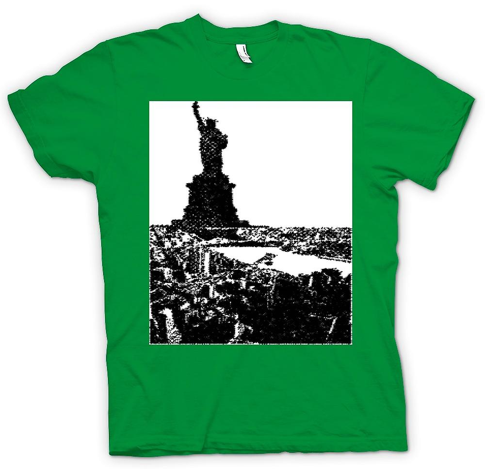 Mens T-shirt-USA-Statue von Liberty-Kunst