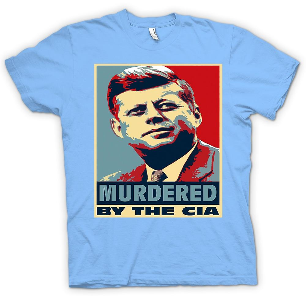 Hommes T-shirt - JFK assassiné par la CIA