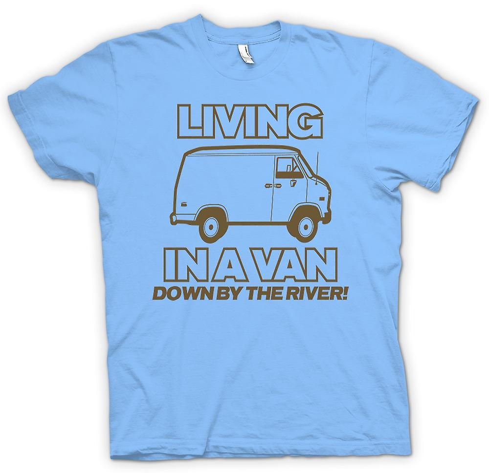 T-shirt des hommes - Living In A Van, Down By The River - Quote