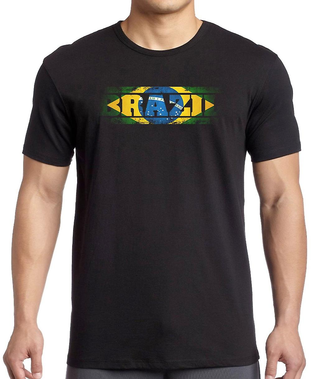 Brazilian Brazil Flag - Words T Shirt  - 4xl