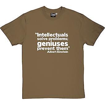 Albert Einstein Genius Quote Men's T-Shirt