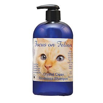 Focus On Felines Crystal Clean Rinseless Shampoo 532ml
