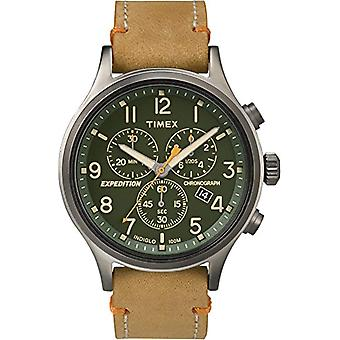 Timex Watch chronograph quartz men's watch with leather TW4B04400