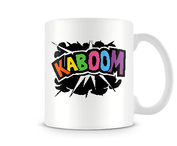 Decorative Writing Colourful Cartoon Comical Kaboom Printed Text Mug