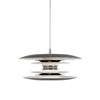 Belid - Diablo a sospensione a LED grigio chiaro, finitura nero lucido 144548