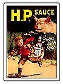 HP Sauce Good with Bacon steel fridge magnet