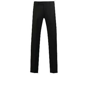 Dobell Mens Black Suit Trousers Slim Fit Travel/Performance