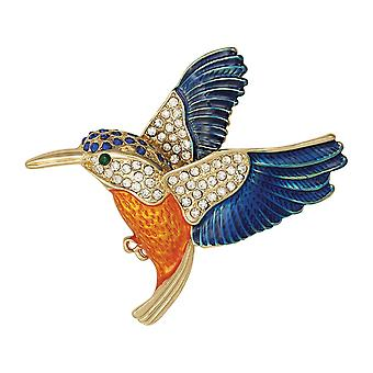 Eternal Collection Kingfisher Crystal Enamel Brooch