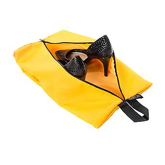 Waterproof Pack of 4 Travel Luggage Organiser Zipper Bags - Yellow (2 x Standard 2 x Large)