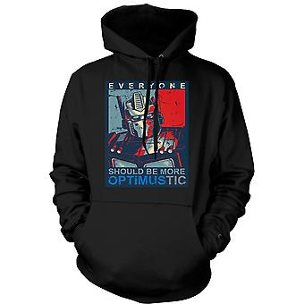 Mens Hoodie - Transformers Optimus Primus Optimustic