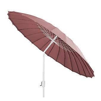 Beach7 | Shanghai parasol rond Spunacrylic doek |  Wit/Lobster | parasols