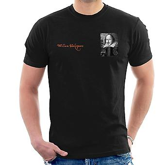 A.P.O.H William Shakespeare Black And White Portrait Men's T-Shirt