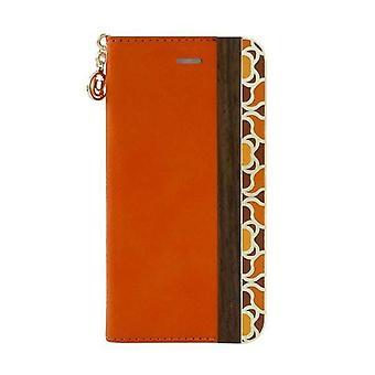 iPhone 6/6s Elegant Mode Wooden Folio Orange