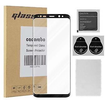 Cadorabo Vollbild Panzer Folie für Samsung Galaxy S8 PLUS  - Gehärtetes (Tempered) Display-Schutzglas in 9H Härte mit 3D Touch Kompatibilität