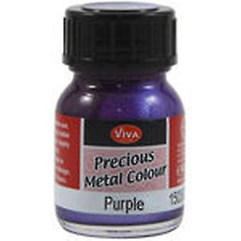 Viva Decor Precious Metal Color 25Ml Pkg Purple Vvpmc 3500