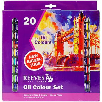Reeves Oil Paint 22Ml 20 Pkg Assorted Colors 8590112