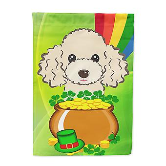 Buff Poodle St. Patrick's Day Flag Garden Size BB2002GF