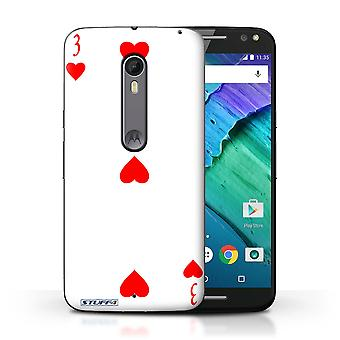 STUFF4 Case/Cover for Motorola Moto X Style/3 of Hearts/Playing Cards