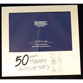 Satin Silver 50th Anniversary 6 x 4 Frame