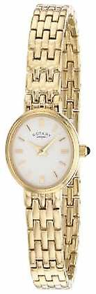 Rotary Womens Gold Plated Bracelet LB02084/02 Watch
