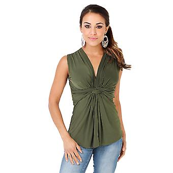 KRISP Sleeveless Knot Front Top