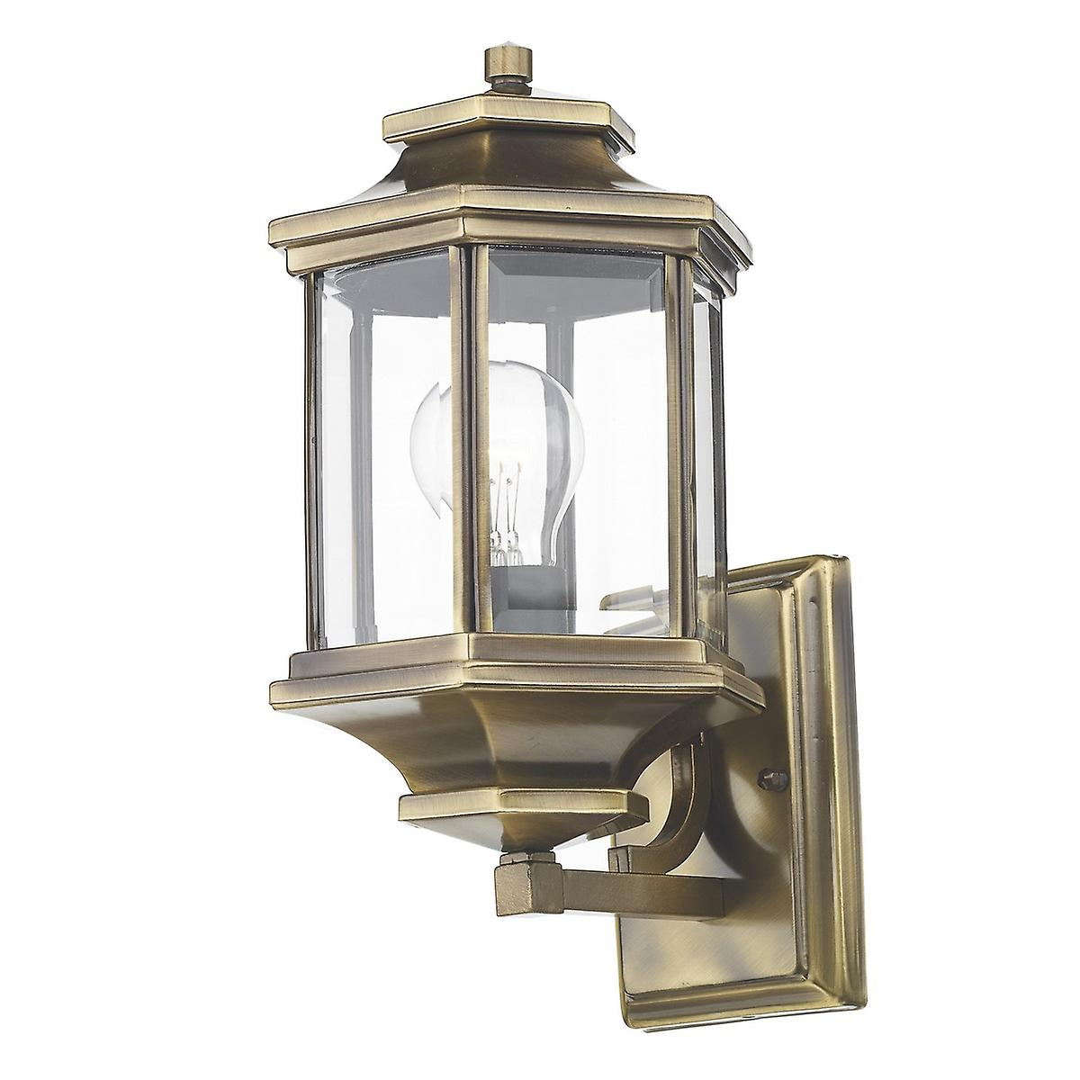 Dar LAD1675 Ladbroke Traditional Outdoor Wall Light Lantern Double Insulated