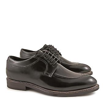 Handmade men's italian dress shoes in lux black leather