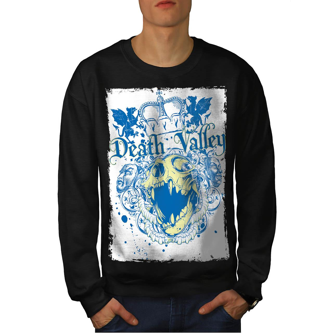 Death Valley Monster Royal Crown menn svart Sweatshirt | Wellcoda