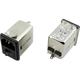 EMI filter + switch, + IEC socket 250 Vac 1 A 3.7 mH (L x W x H) 41.1 x 31.6 x 56 mm Yunpen YR01A3 1 pc(s)