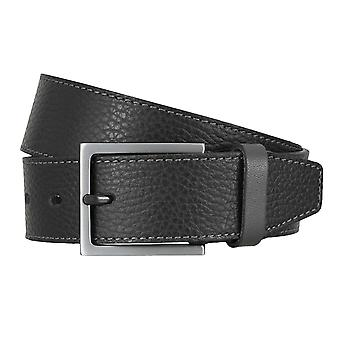 LLOYD Men's belt belts men's belts leather belt black 4748
