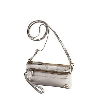 Dr Amsterdam shoulder bag/Clutch Basil Crackle Silver