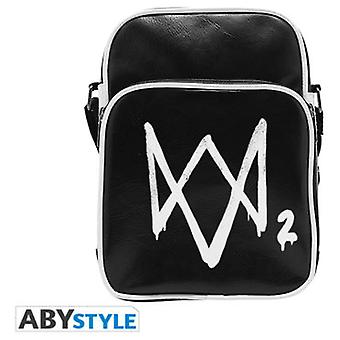 Abysse Watch Dogs 2 Messenger Bag Logo Vinyl Small Size Hook